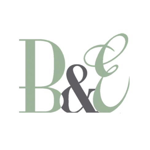 B and e logo