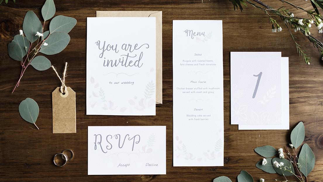 Invitations etc